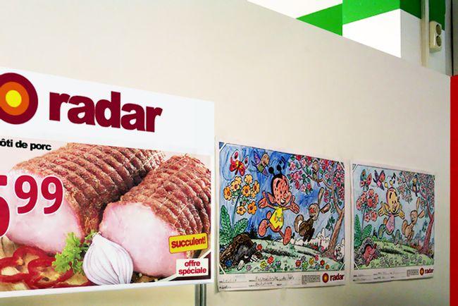 Concours de dessin au supermarché Radar