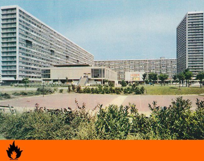 Cité des 4000, La Courneuve - Centre commercial